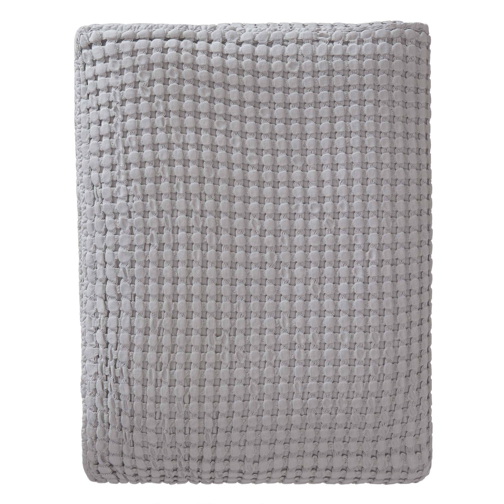 Veiros bedspread, light grey, 100% cotton