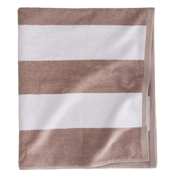Avelar beach towel, white & natural, 100% cotton | URBANARA beach towels