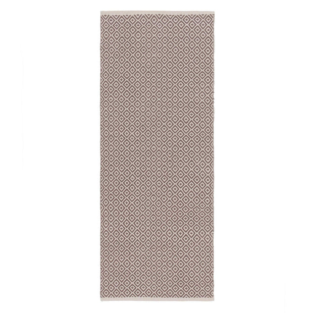 Tenali runner, grey & off-white, 100% cotton | URBANARA runners