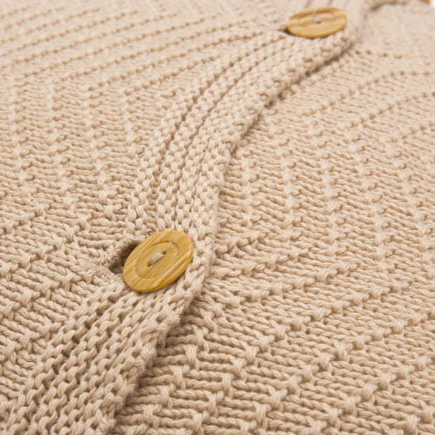 Falesia cushion cover, beige, 100% cotton |High quality homewares