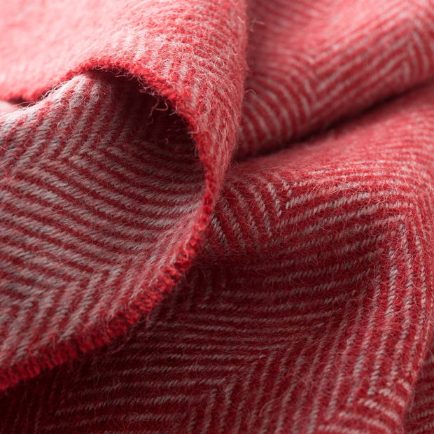 Anra scarf in red & grey, 100% baby alpaca wool |Find the perfect hats & scarves