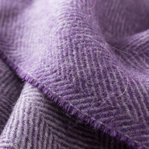Anra scarf in purple & grey, 100% baby alpaca wool |Find the perfect hats & scarves