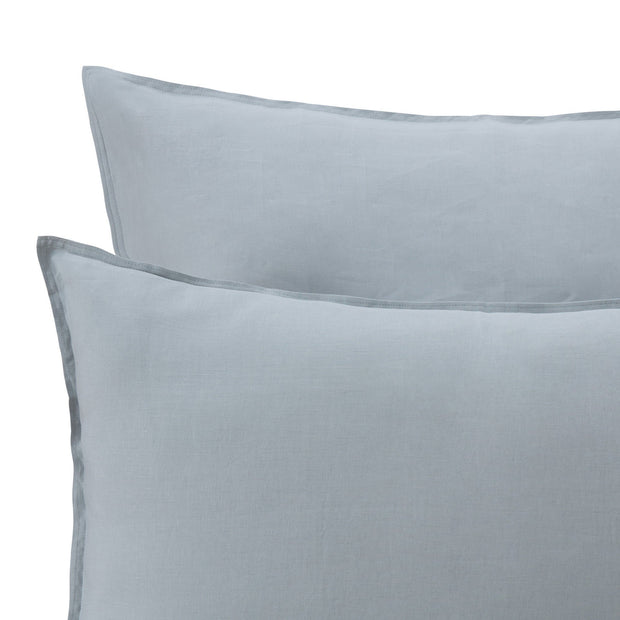 Bellvis pillowcase, green grey, 100% linen | URBANARA linen bedding