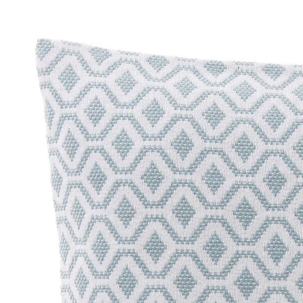 Viana cushion cover, grey green & white, 100% cotton |High quality homewares