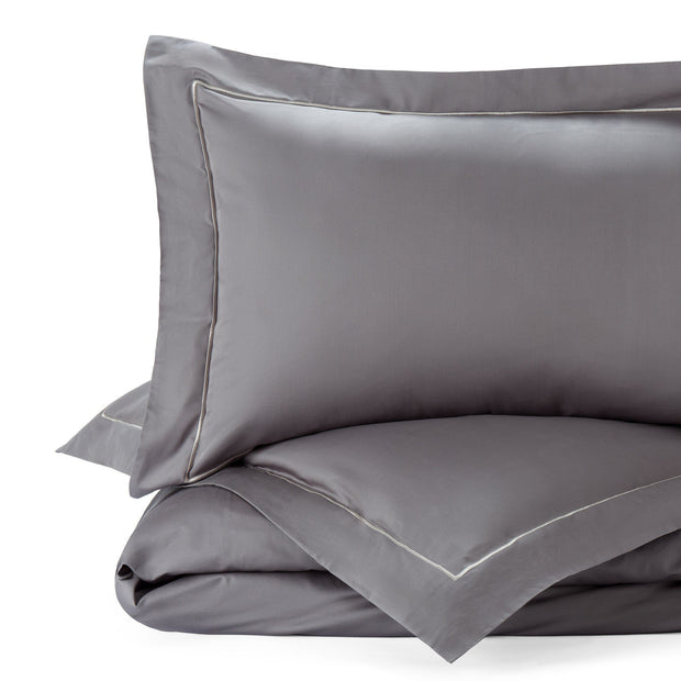 Karakol duvet cover, charcoal & grey, 100% cotton