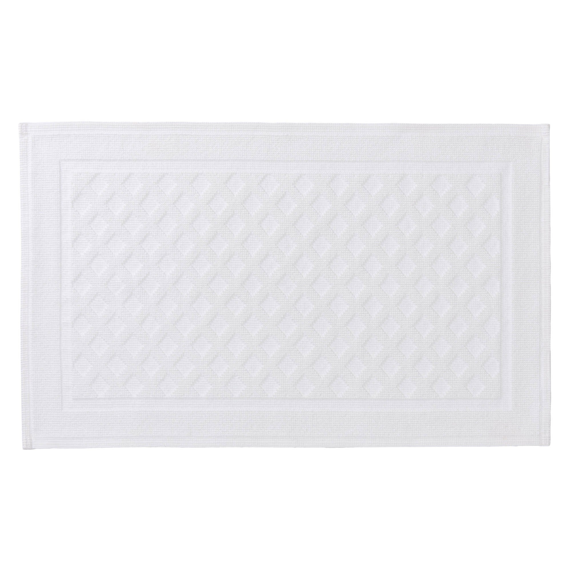Osuna bath mat, white, 100% cotton