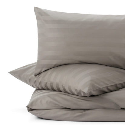 Linan duvet cover, stone grey, 100% cotton