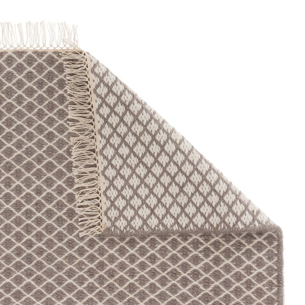 Loni runner, grey & off-white, 100% wool