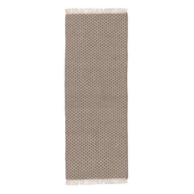 Loni runner, grey & off-white, 100% wool | URBANARA runners