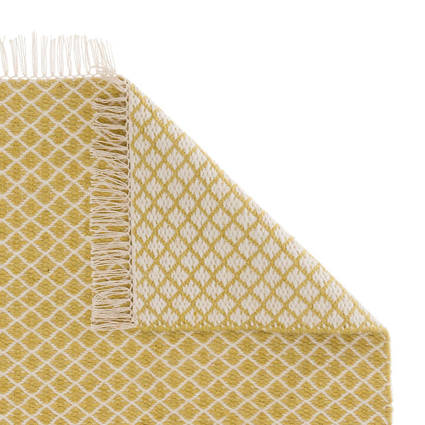 Loni runner, light yellow & off-white, 100% wool