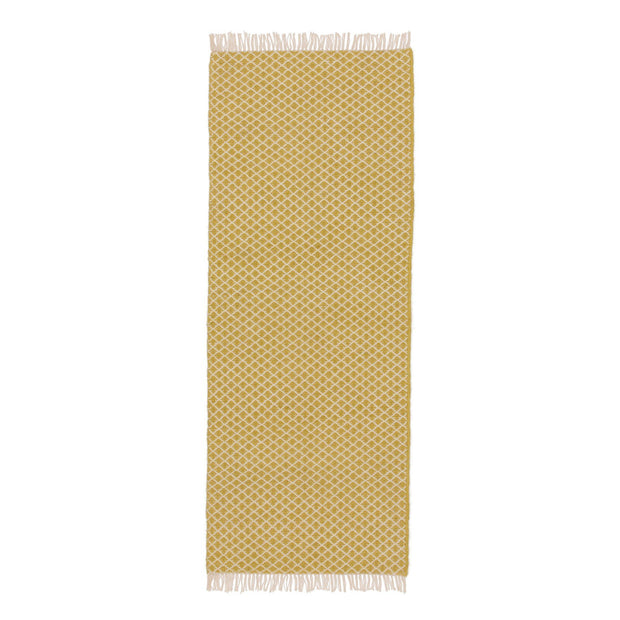 Loni runner, light yellow & off-white, 100% wool |High quality homewares