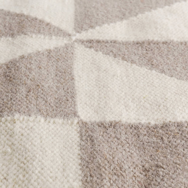 Almi runner, grey & off-white, 100% wool & 100% cotton |High quality homewares