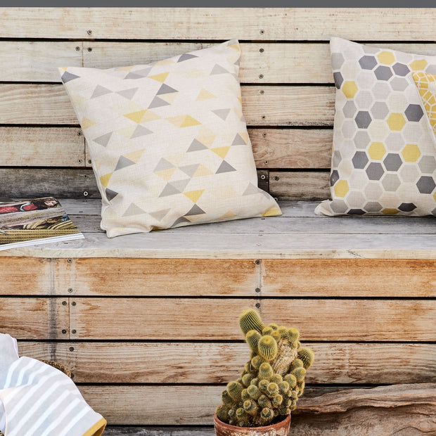 Yellow & Grey & Natural Camber Kissenhülle | Home & Living inspiration | URBANARA