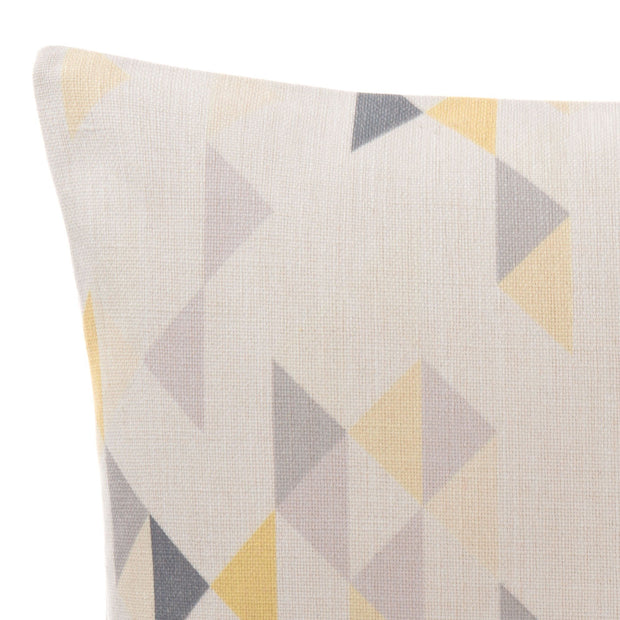 Camber cushion cover, yellow & grey & natural, 100% linen | URBANARA cushion covers