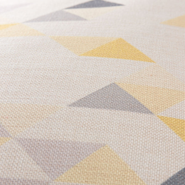 Camber cushion cover, yellow & grey & natural, 100% linen |High quality homewares