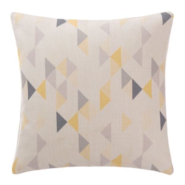 Camber cushion cover, yellow & grey & natural, 100% linen