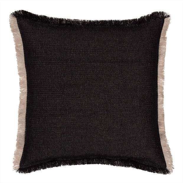 Alkas blanket in black & stone grey, 50% linen & 50% cotton |Find the perfect cotton blankets