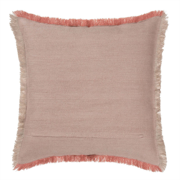 Alkas cushion, dusty pink & stone grey, 50% linen & 50% cotton | URBANARA cushions