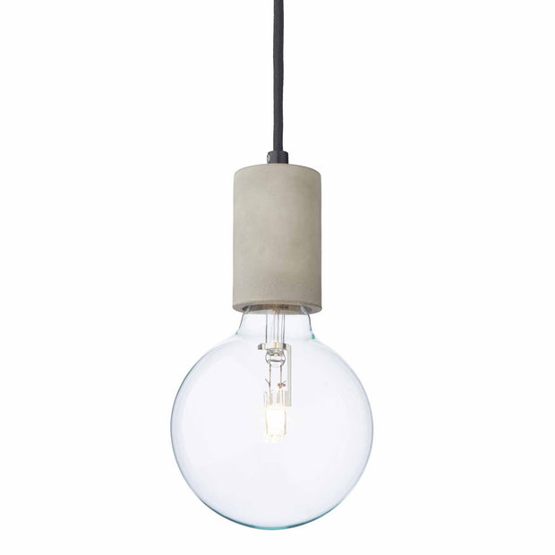 Salby pendant lamp, light grey, 100% concrete | URBANARA pendant lamps