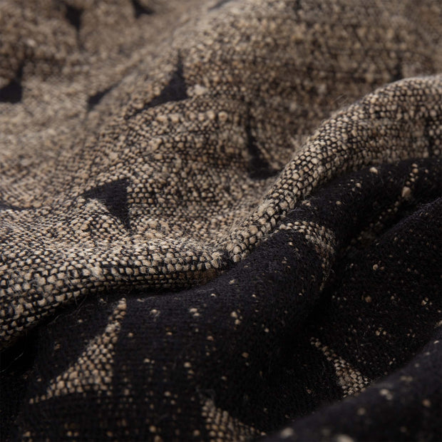 Araku blanket in natural & black, 60% wool & 40% silk |Find the perfect silk blankets