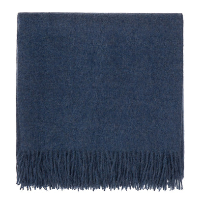 Arica blanket, denim blue, 100% baby alpaca wool