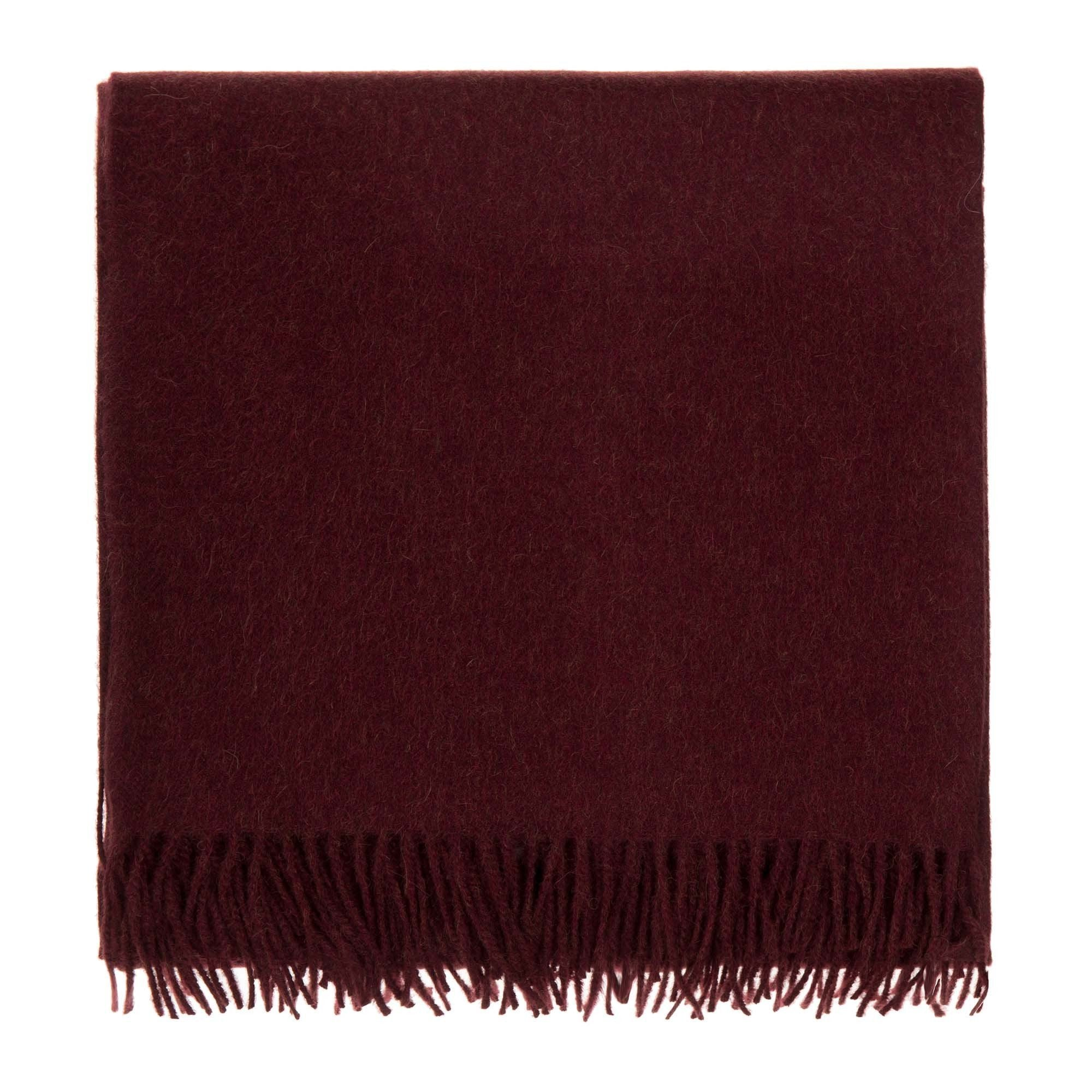 Arica blanket, bordeaux red, 100% baby alpaca wool