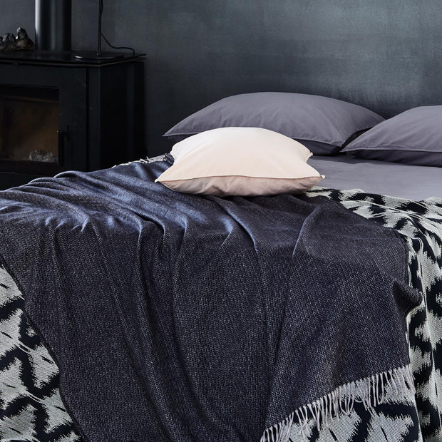 Corcovado Alpaca Blanket in black & off-white | Home & Living inspiration | URBANARA