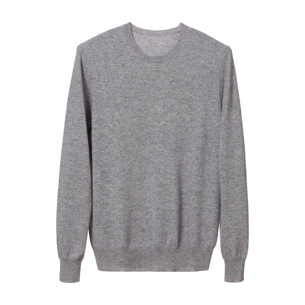Nora jumper, light grey, 50% cashmere wool & 50% wool