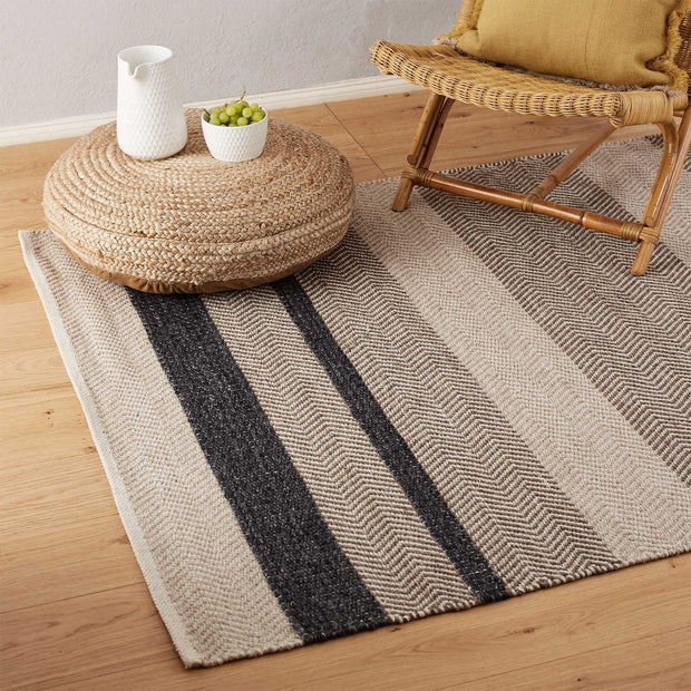 Charcoal & Beige & Light brown Alto Teppich | Home & Living inspiration | URBANARA