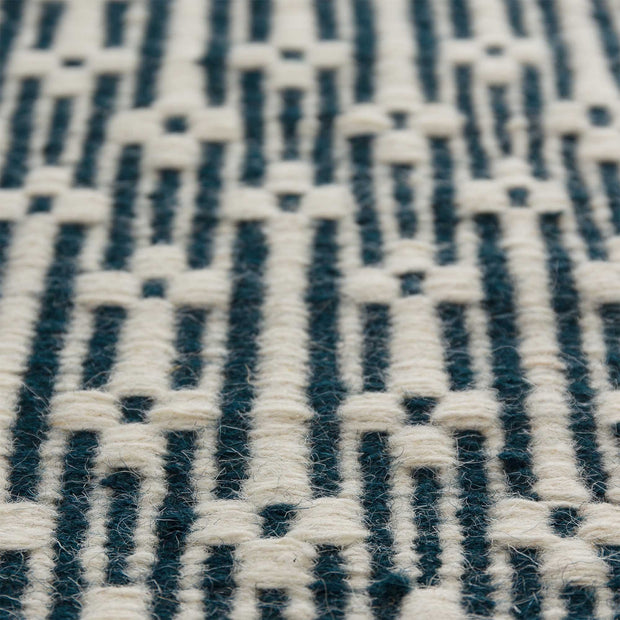 Lumaco rug in teal & off-white, 100% wool |Find the perfect wool rugs