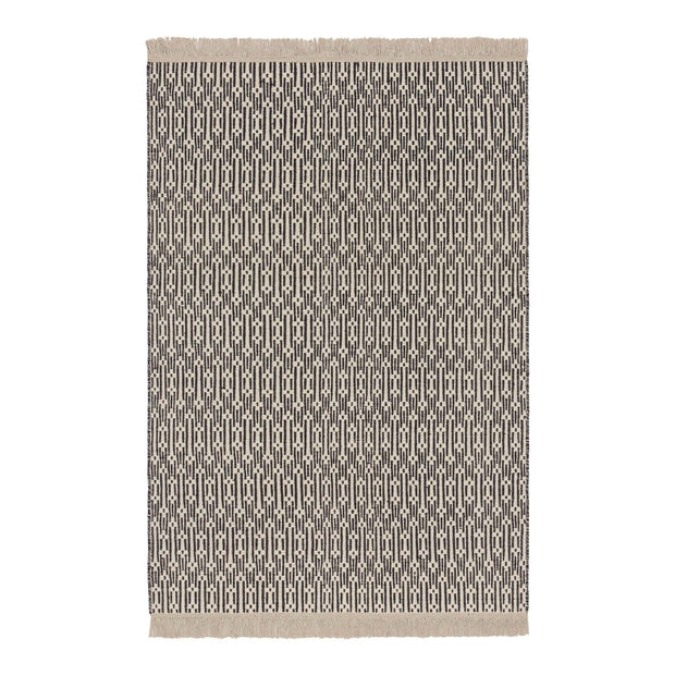 Lumaco rug, charcoal & off-white, 100% wool |High quality homewares