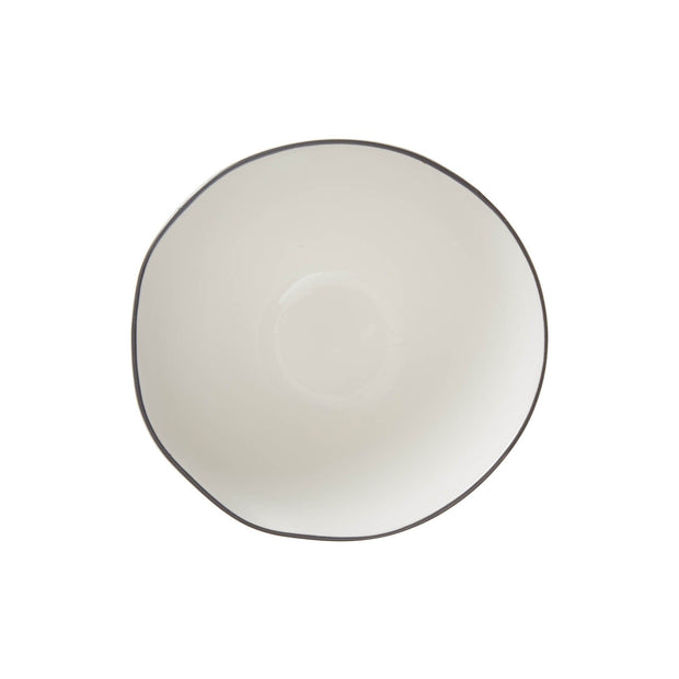 Richmond bowl, white & charcoal, 100% porcelain | URBANARA plates & bowls