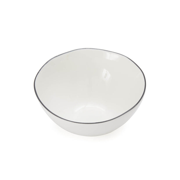 Richmond bowl, white & charcoal, 100% porcelain |High quality homewares