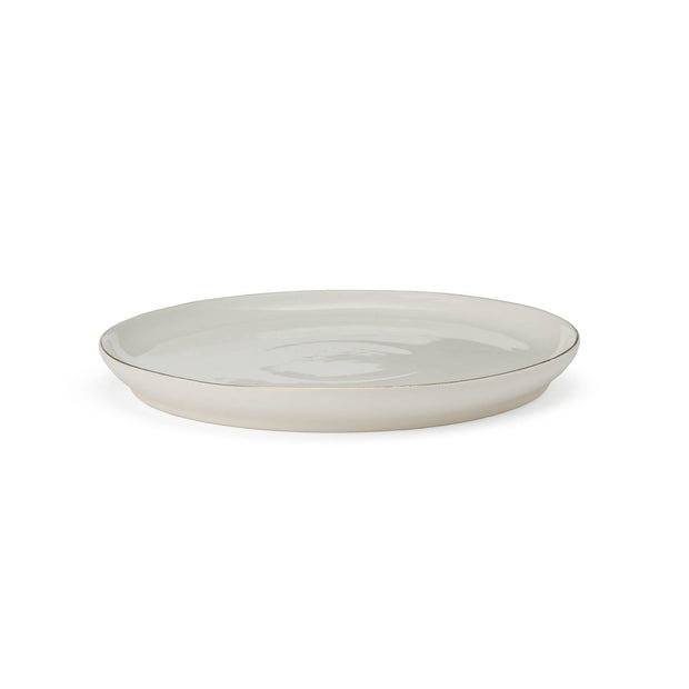 Richmond plate, white & gold, 100% porcelain | URBANARA plates & bowls