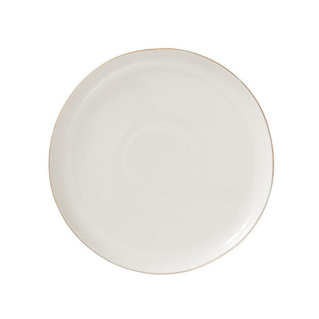 Richmond plate, white & gold, 100% porcelain