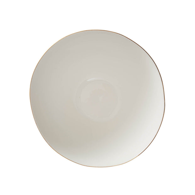 Richmond salad bowl, white & gold, 100% porcelain |High quality homewares