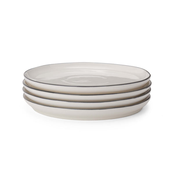 Richmond plate, white & charcoal, 100% porcelain |High quality homewares