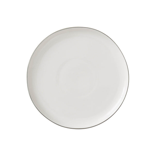 Richmond plate, white & charcoal, 100% porcelain