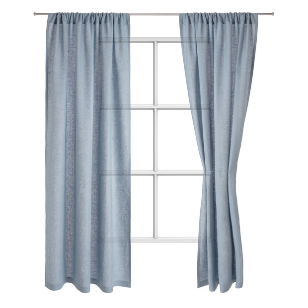 Fana curtain, light blue, 100% linen