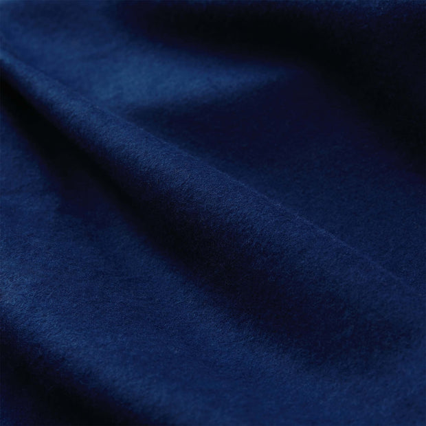 Montrose pillowcase, dark blue, 100% cotton | URBANARA flannel bedding