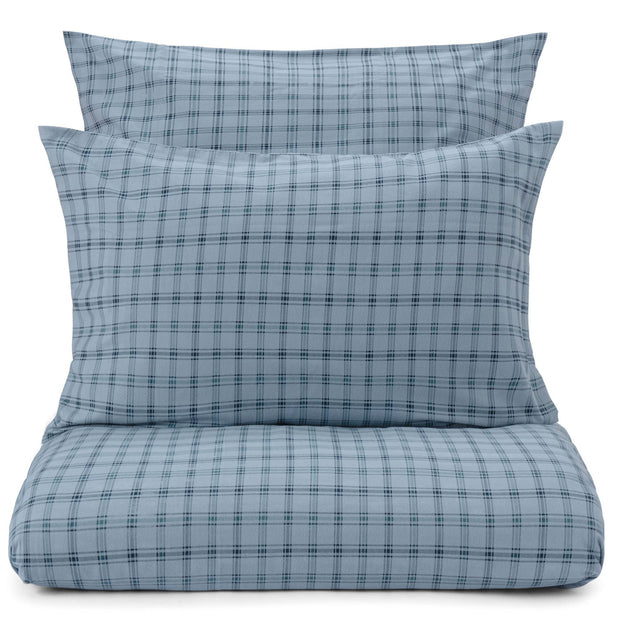 Kotja pillowcase, light blue & teal & dark blue, 100% cotton