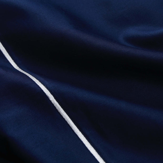 Karakol pillowcase, dark blue & off-white, 100% cotton |High quality homewares