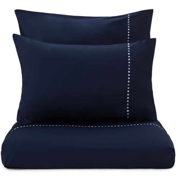 Mahina duvet cover, dark blue & blue & light grey, 100% cotton