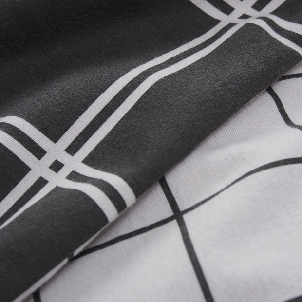 Brelade pillowcase, charcoal & light grey, 100% cotton |High quality homewares