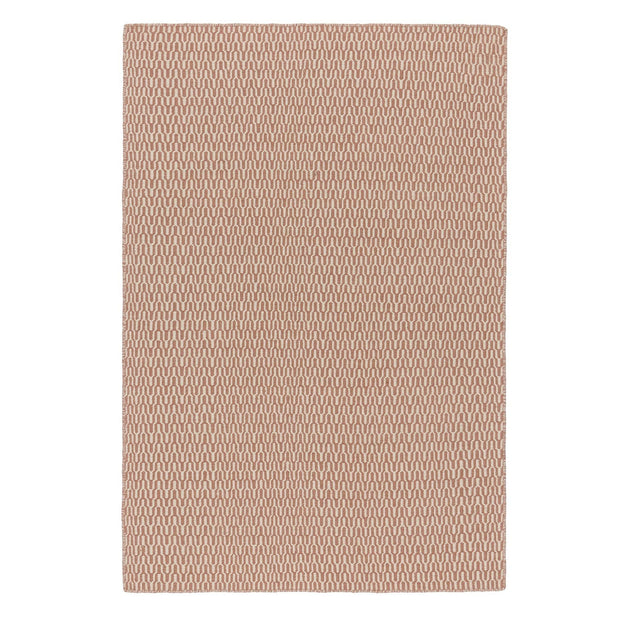 Overod rug, dusty pink & off-white, 100% new wool & 50% cotton | URBANARA wool rugs