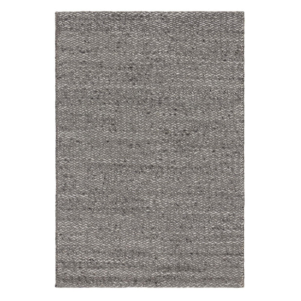 Collico rug, light grey, 50% wool & 50% viscose | URBANARA wool rugs