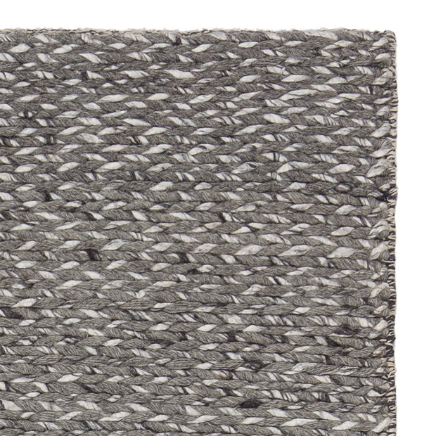 Collico rug, light grey, 50% wool & 50% viscose