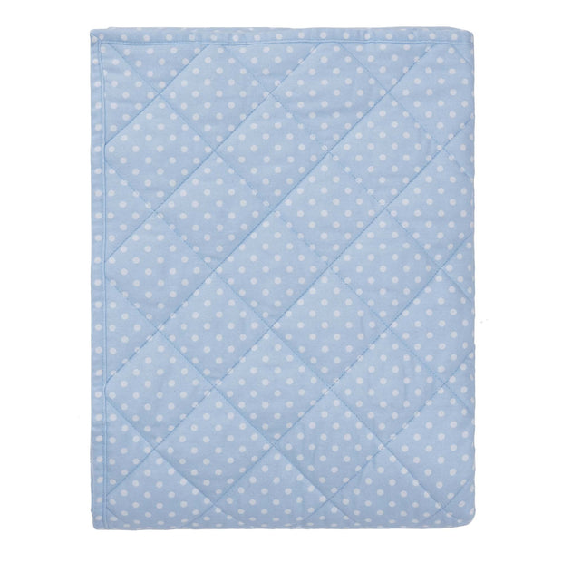 Pico quilt, light blue & white, 100% cotton