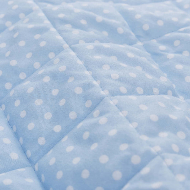 Pico quilt, light blue & white, 100% cotton | URBANARA kids bedding