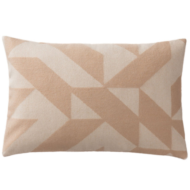 Farum cushion cover, beige & cream, 100% merino wool